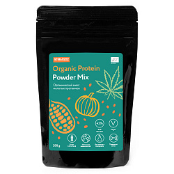 Протеин микс 4 in 1 (Hemp prot + chia prot + pumkin seeds prot + cacao powder) organic 200 г